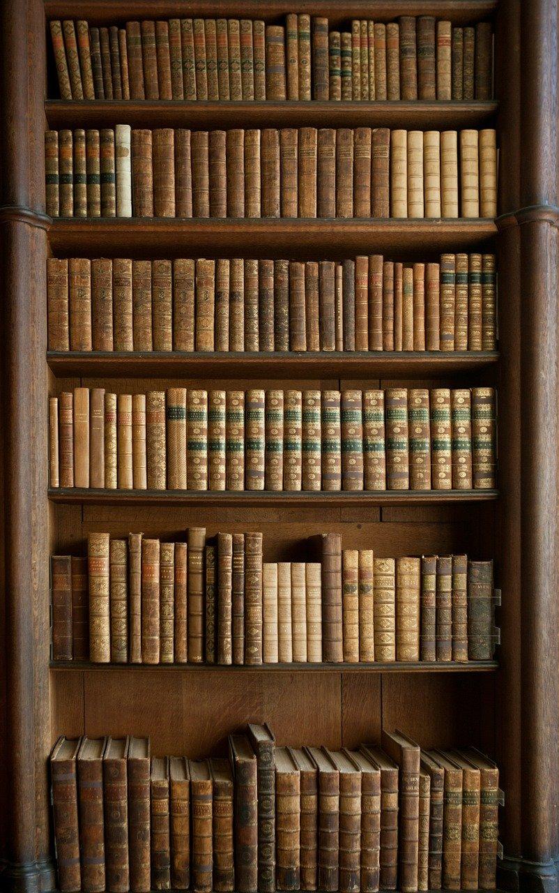 books, bookcase, old books